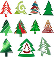 Icons Christmas trees vector image