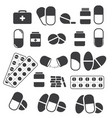 medicines and tablets pills capsules medical vector image