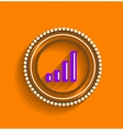 chart icon stamp modern flat design vector image