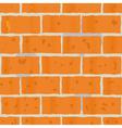 red bricks wall seamless vector image