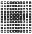 100 totalizator icons set black vector image vector image