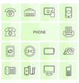14 phone icons vector image vector image