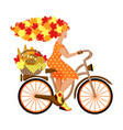 a metaphorical fairy tale character young autumn vector image vector image