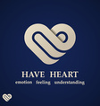 Abstract heart symbol design template
