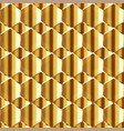 abstract honeycomb with gold effect seamless vector image vector image