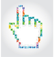 Abstract pixalated hand vector image