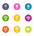 air service icons set flat style vector image vector image