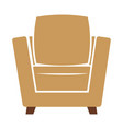 armchair icon isolated vector image