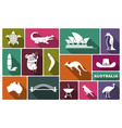 australian icons vector image vector image