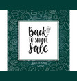 back to school sale poster hand lettering vector image vector image