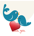 Beautiful birdie in love vector image vector image