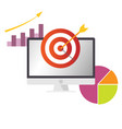 business target with dashborad and chart vector image