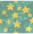 cartoon flat Stars pattern vector image vector image