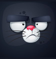 cat cartoon face - funny vector image