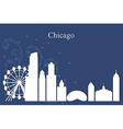 chicago city skyline on blue background vector image
