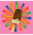 Chocolate Ice Cream Background3 vector image