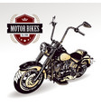 Chopper customized motorcycle vector image vector image