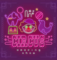 circus neon sign vector image vector image