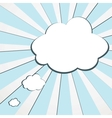 cloud banner for text vector image