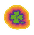 clover with rainbow lines vector image