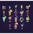 Cocktail Stickers Collection vector image