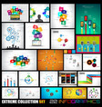 Collection of 22 Infographics for social media and vector image vector image