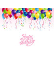 color holiday balloons vector image