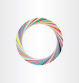 colorful circle frame abstract background vector image vector image