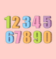 colorful collection of numbers vector image