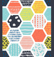 colorful seamless patterns with honeycombs vector image