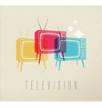 Colorful television concept background vector image