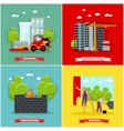 Construction site concept banners Building vector image vector image