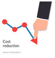 cost reduction concept cost down businessman vector image vector image
