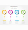 creative concept business data for infographic vector image vector image