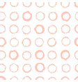 creative seamless pattern with circular marks or vector image vector image