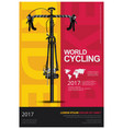 cycling poster vector image vector image