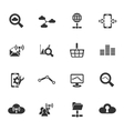 data analytic and social network icon set vector image vector image