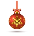 Decorative red ball vector image vector image