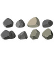 different shapes of rocks vector image