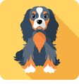 dog Cavalier King Charles Spaniel sitting icon fla vector image vector image