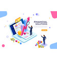 financial management concept vector image vector image