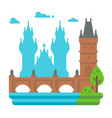 flat design charles bridge prague vector image