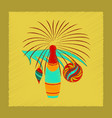 flat shading style icon christmas tree champagne vector image vector image