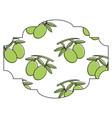 frame with olives pattern background vector image vector image
