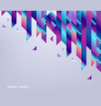 gradient background with colorful geometric shapes vector image vector image