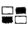 grunge frames isolated rectangular borders vector image vector image