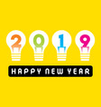 happy new year 2019 greeting design vector image vector image