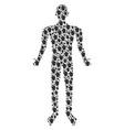index finger man figure vector image vector image