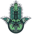 Indian hand drawn hamsa vector image vector image