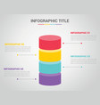 infographic template with bar shape 3d shape vector image vector image